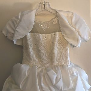 Flower girl/ First Communion Dress with Veil
